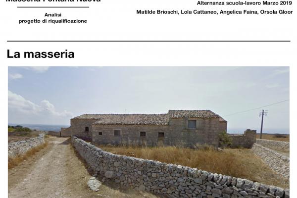 Progetto di rigenerazione  Masseria Magnì a Ragusa